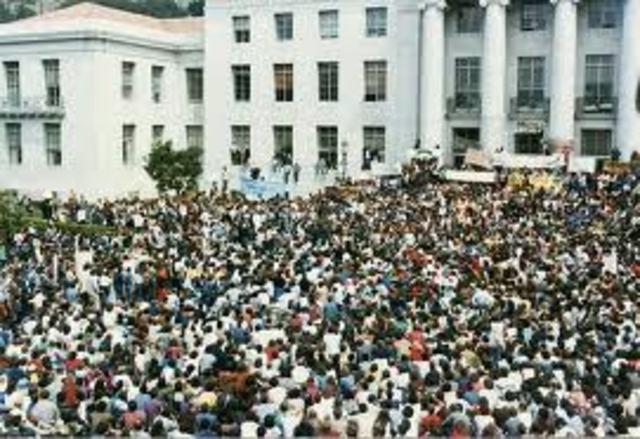 U.C. Berkley Demonstrations begin