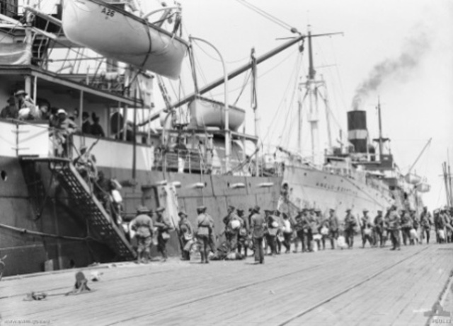 The first Australian troops to leave Australia for Egypt