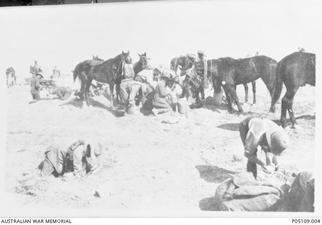 The Australian Light Horse wins the  Battle of Beersheba in Palestine