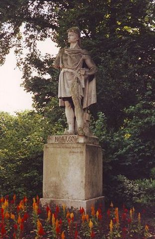 Rollo, den danske viking høvding, blev hertug over Nordmandiet i Nordfrankring