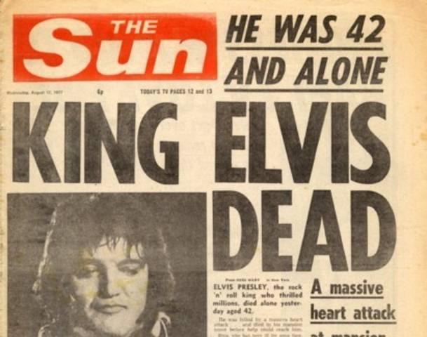 The death of Elvis Presley