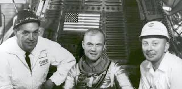 John Glenn Pilots First Manned American Spacecraft