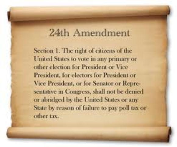 24th Amendment Passed