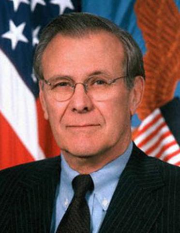 Donald Rumsfield was born.