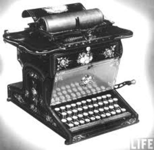 Typewriter was invented