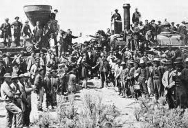Transcontinental Railroad was built