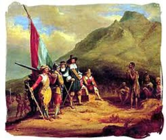 Jan van Riebeeck founds the Cape Colony at Table Bay