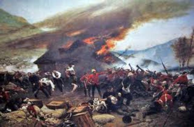 The Zulus are defeated by the British in Natal