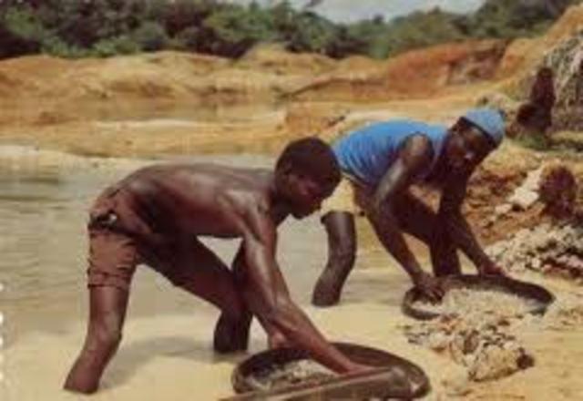 Diamonds discovered at Kimberley