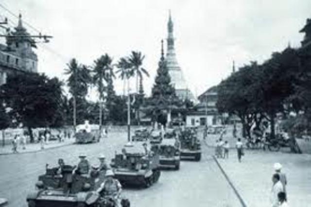 Japanese invade Burma
