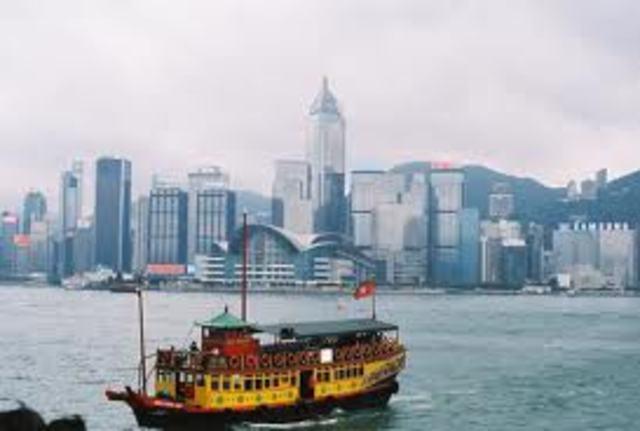 British surrender at Hong Kong.