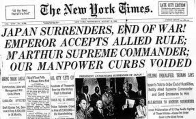 Japan Surrendered
