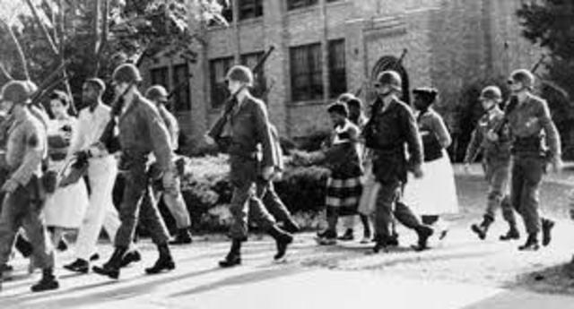 High School enforced de-segregation