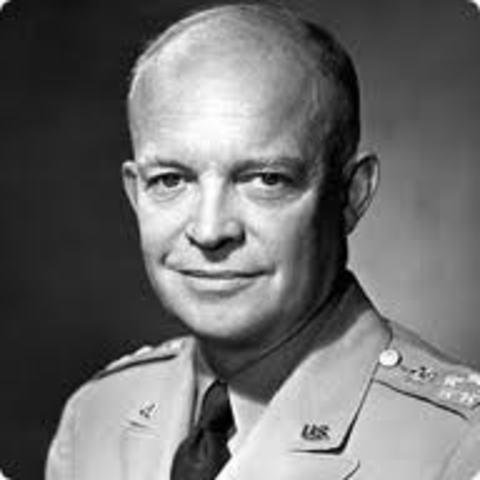 Eisenhower Sends in troops to Arkansas