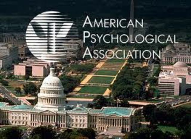 Se funda la asociacion americana de psicologia (APA)