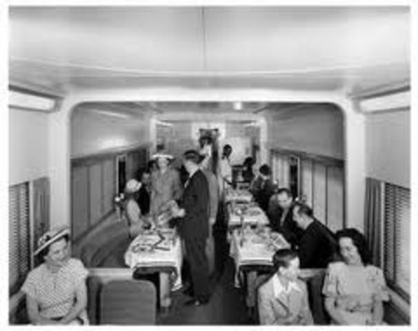 Railroad dining cars.