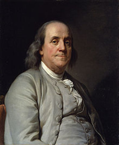 Raynal reçoit B.Franklin et J.Adams