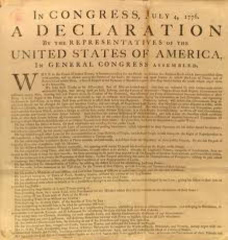 America gets independence