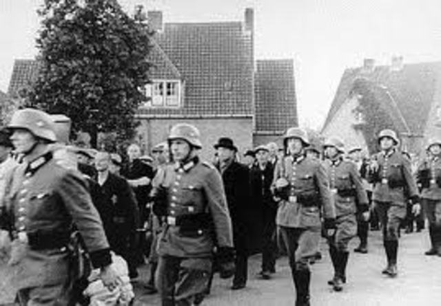 Germany invades Belgium and Holland