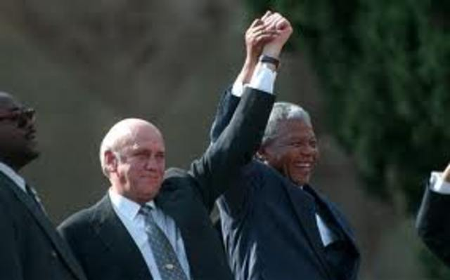 FW de Klerk becomes president, public facilities desegrated, many ANC activists freed