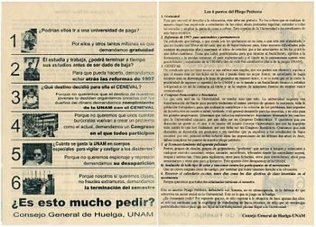 Huelga estudiantil de la UNAM