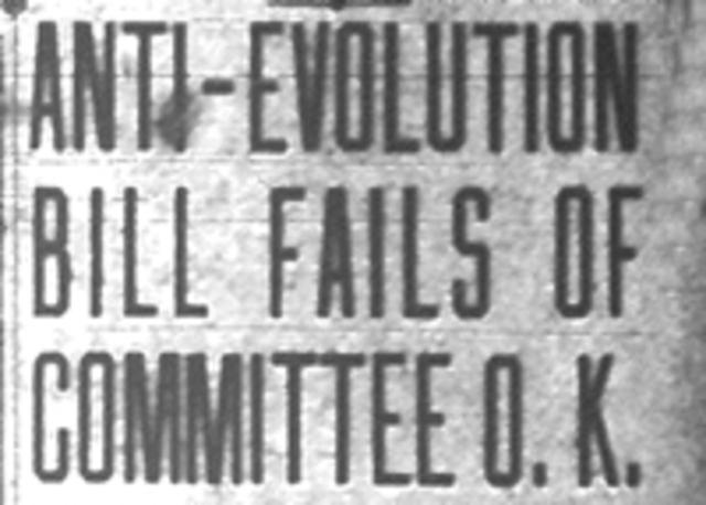 First anti evolution bill