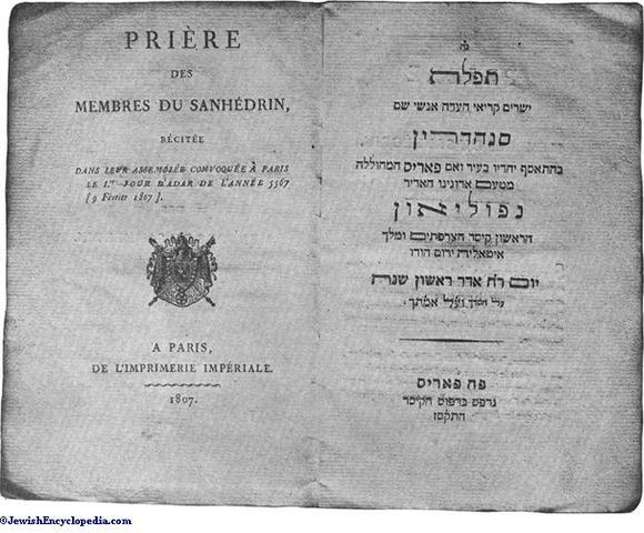 Napleon Bonaparte's sanhedrin