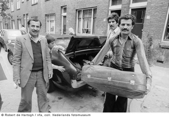 Turkse gastarbeiders naar Nederland.