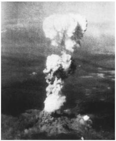 Τhe nuclear bombing of Hiroshima.