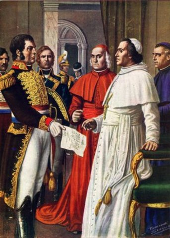 Papel States, Pope in prison ( 2 points)