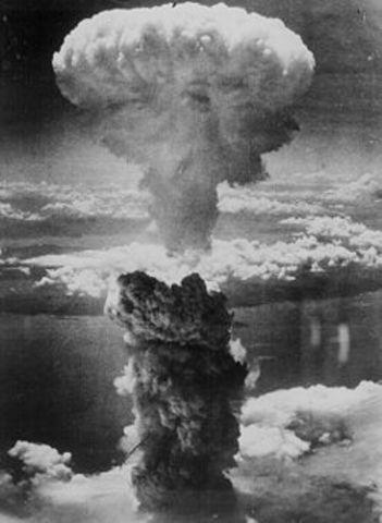 The nuclear bombing of Nagasaki.