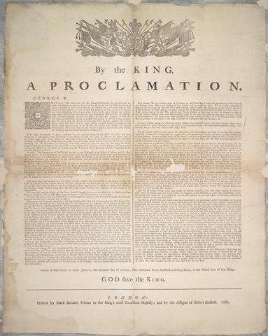 Proclamation royale.