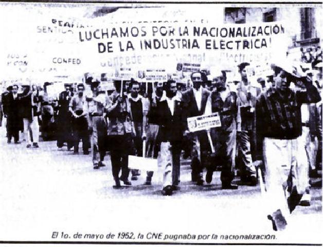 Nacionalizacion de la Energia Electrica.