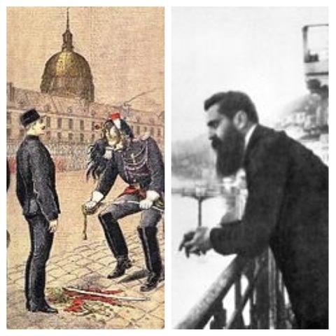 Dreyfus Affair inspires Theodore Hertzl