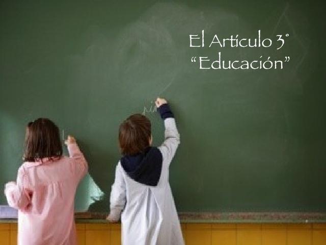 Reforma art. 3° constitucional