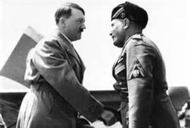 Hitler and Mussolini form the Rome-Berlin Axis