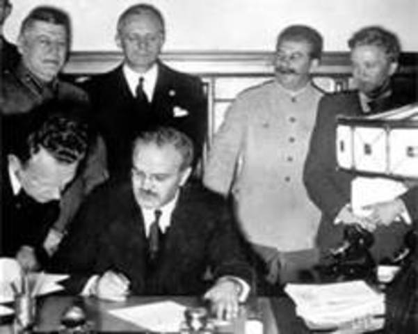 Germany and Soviet Union have a nonagression pact