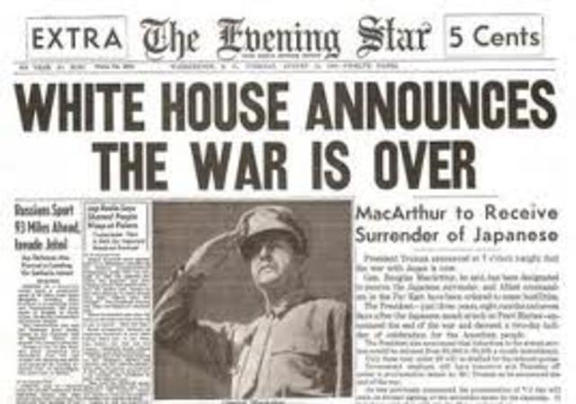 World War Two ends