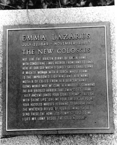 Emma Lazarus's Poem is Placed on Statue of Liberty