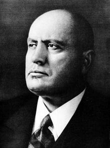 Benito Mussolini becomes the head of the Italian government.
