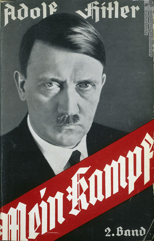 """Hitler published the first part of his book """"Mein Kampf""""."""