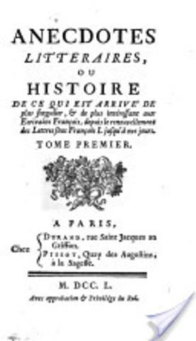 """""""Anecdotes littéraires ou historiques"""""""