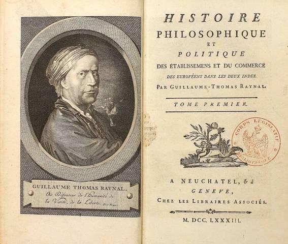 """Quatrième édition - """"Histoire des deux Indes"""""""