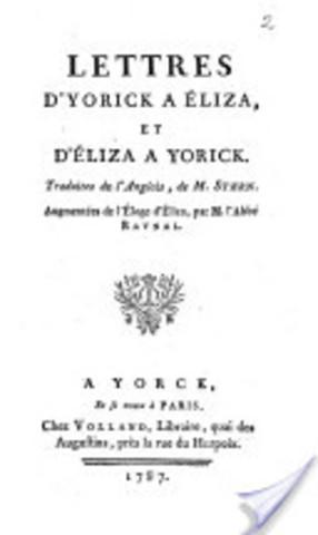 """""""Lettres d'Yorick à Eliza"""""""