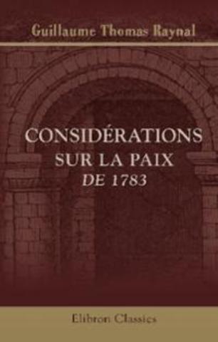 """""""Considérations sur la paix en 1783"""""""