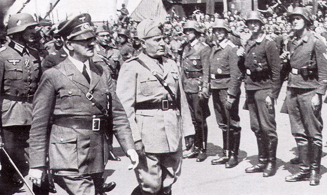 MUSSOLINI JOINS HITLER