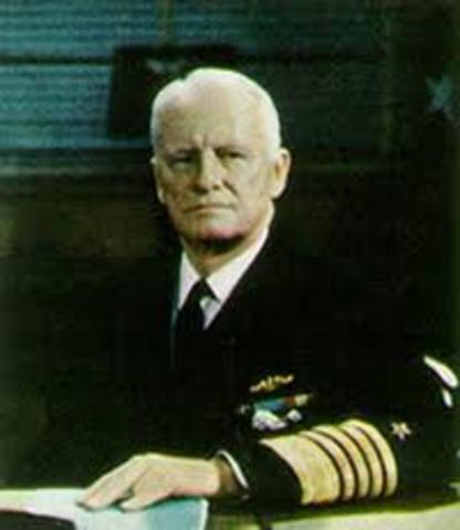 Admiral Chester Nimitz- Commander in Chief of the U.S. Pacific Theater