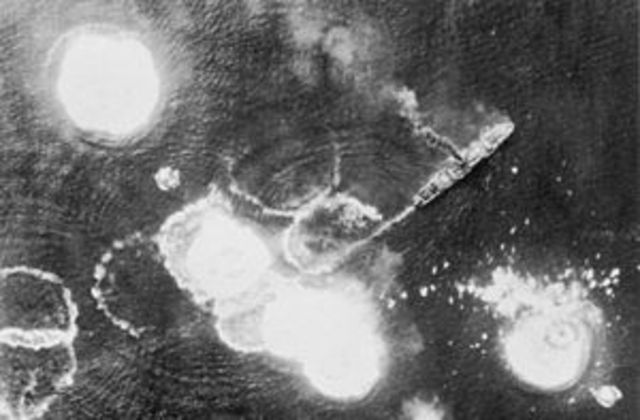 U.S. victory over Japanese in the Battle of Bismarck Sea.