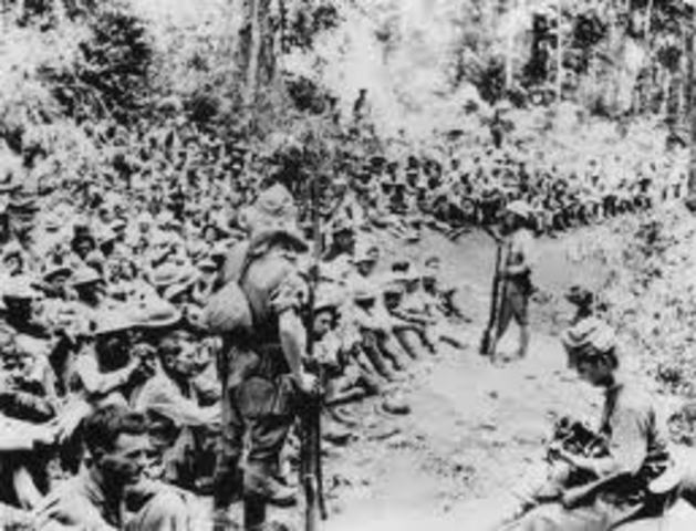 U.S. forces on Bataan surrenders to the Japanese.