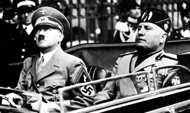 Mussolini sided with Germany